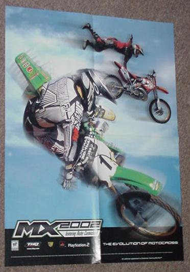 MX 2002 featuring Ricky Carmichael Poster PS2 Game