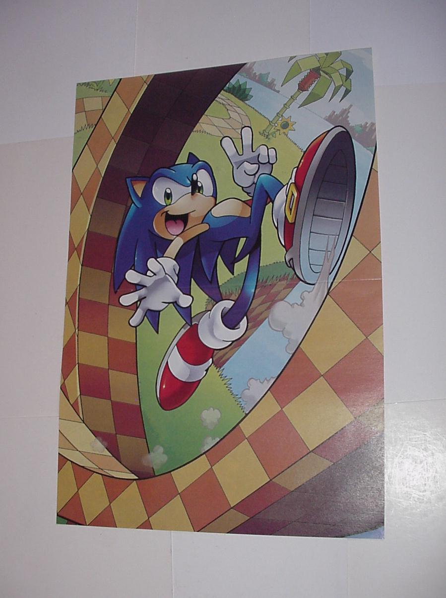 Sonic the Hedgehog Poster #10 Sonic Peace Sign