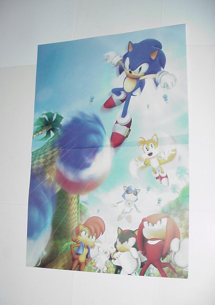 Sonic the Hedgehog Poster #14 Tails Knuckles Metal