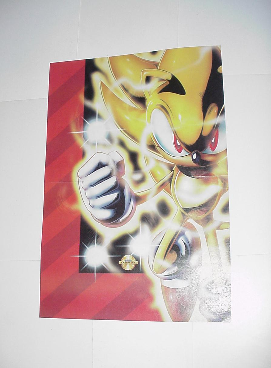 Sonic the Hedgehog Poster # 3 Super Sonic by Spaz
