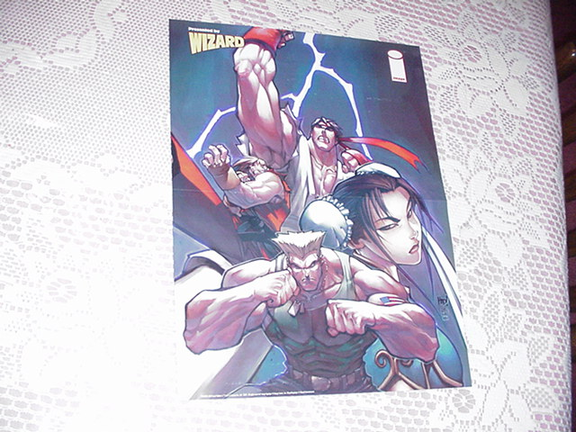 Street Fighter Poster Joe Madureira Ryu Ken Guile