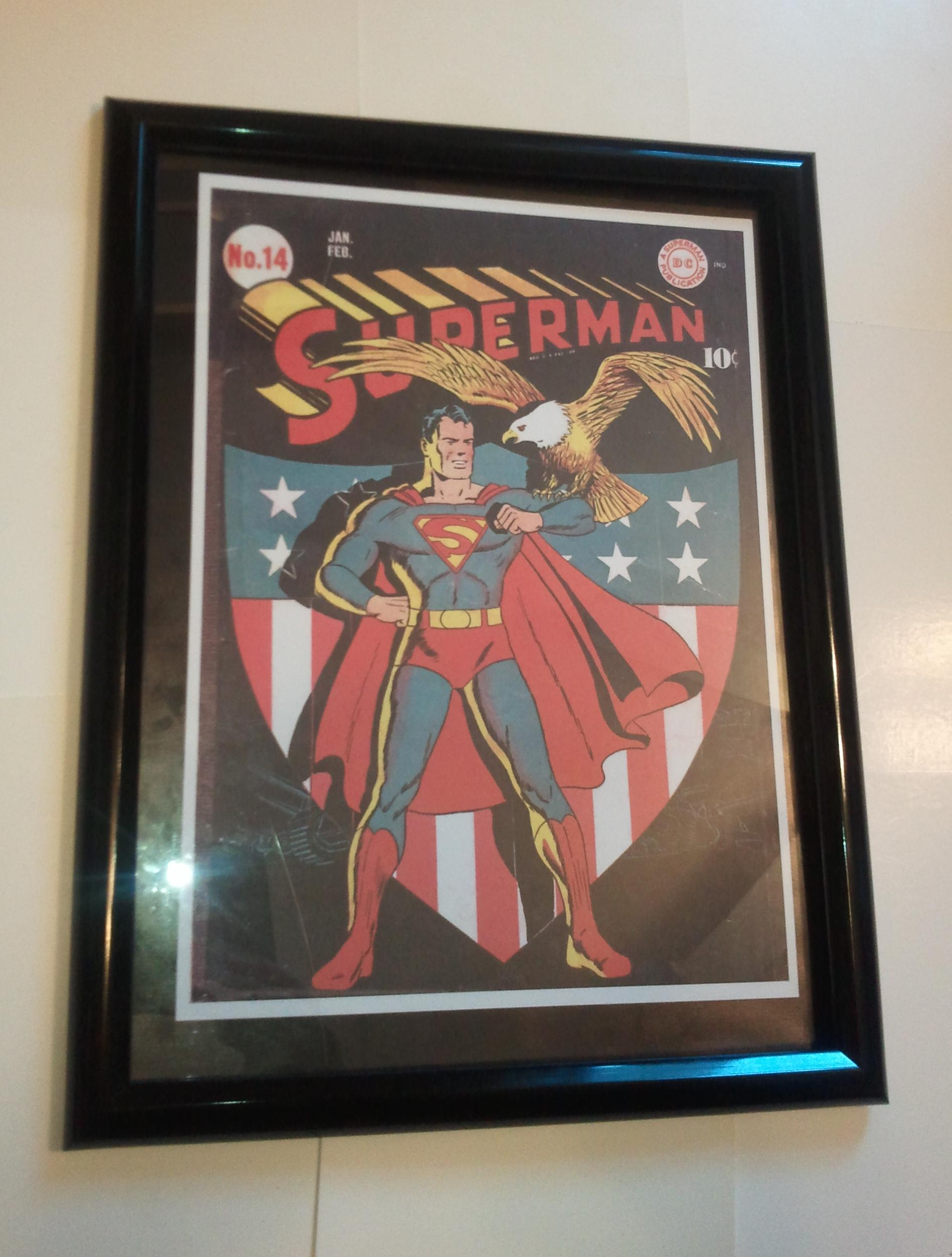 Superman Poster #12 FRAMED Amer Eagle 14 Fred Ray