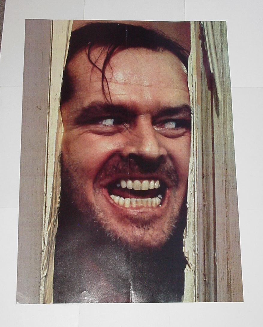 The Shining Poster Here's Johnny Jack Nicholson