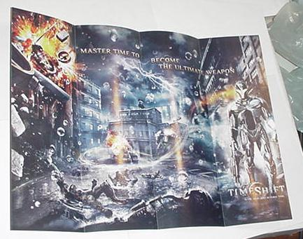 TimeShift Video Game Poster 14x10 & 1/2""