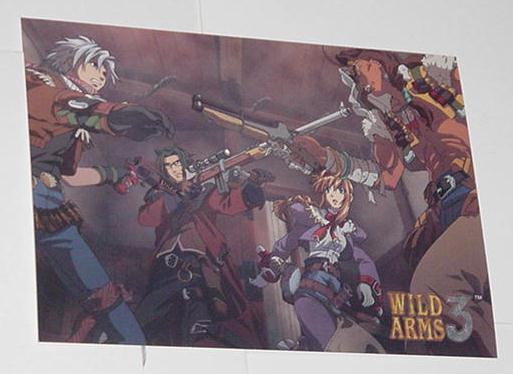 Wild Arms 3 Postcard # 2 Square PS2 RPG Drifters