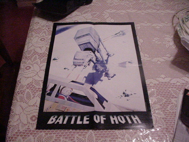 Star Wars AT-AT Poster Hoth Battle w Speeders