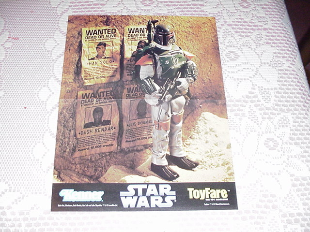 Boba Fett Wanted Poster Star Wars