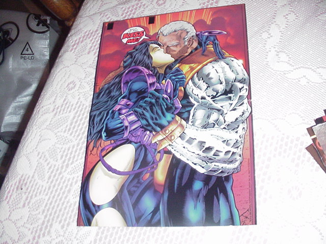 Cable & Domino Kiss Poster X-Force