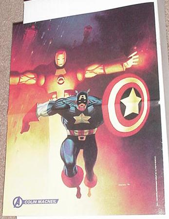 Captain America Iron Man Poster Colin Macneil