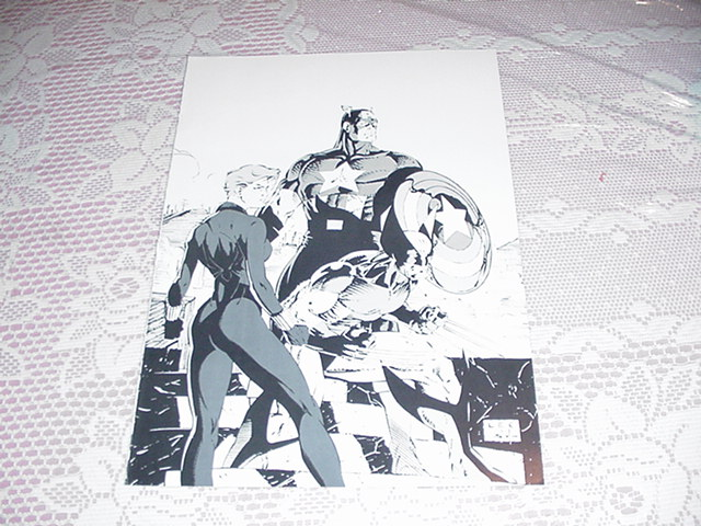 Captain America Wolverine Widow Poster B&W