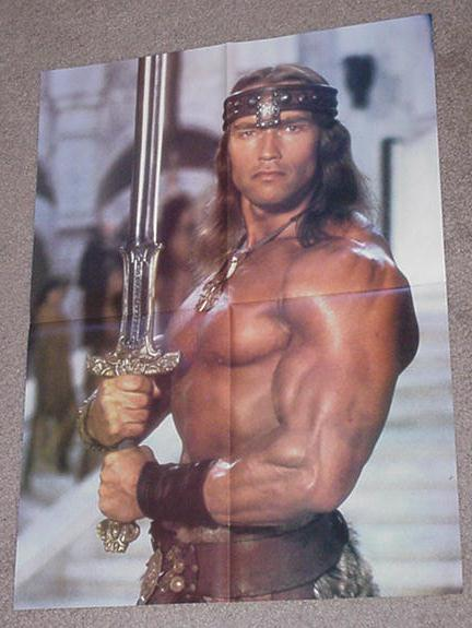 Conan Destroyer Movie Poster Arnold Schwarzenneger