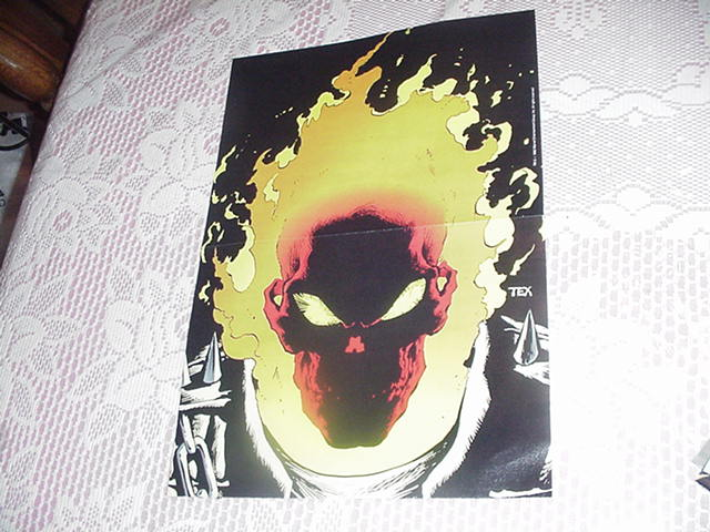 Ghost Rider Portrait Poster by Mark Texiera