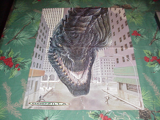 Godzilla In The City Poster