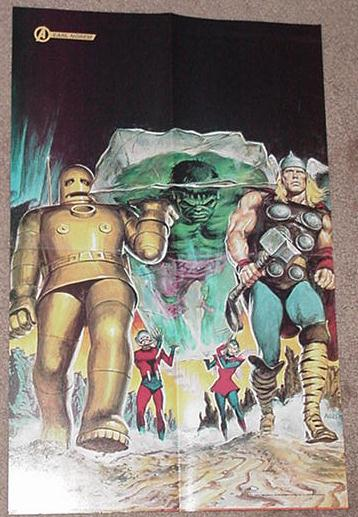 Hulk Defeated by Avengers Poster Earl Norem Thor