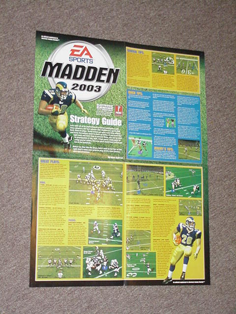 Madden 2003 Poster / Strategy Guide EA PS2 Xbox