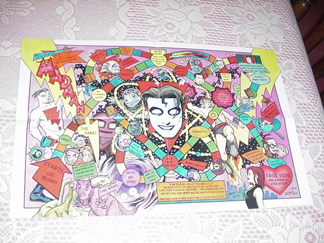 Madman Boardgame Poster Mike Allred