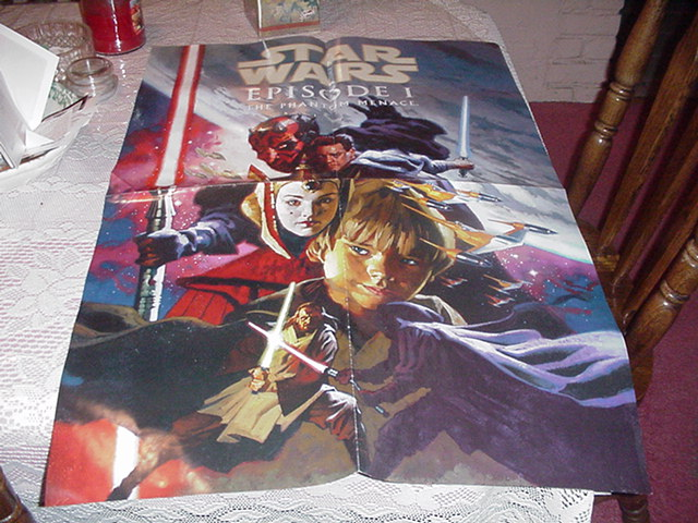 Phantom Menace Poster HUGE LOOK Star Wars