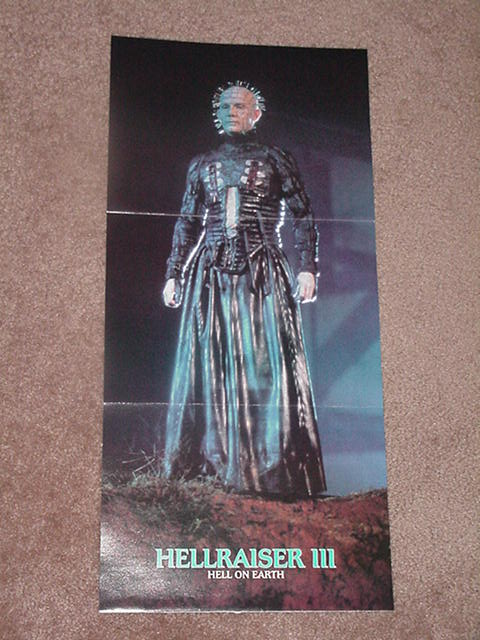 Pinhead Poster from Hellraiser III Horror Movie