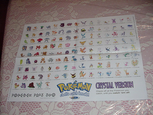 Pokemon Crystal Checklist #2 Poster