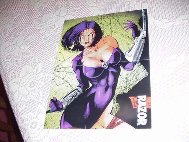 Razor Poster London Nights Bad Girl Comics