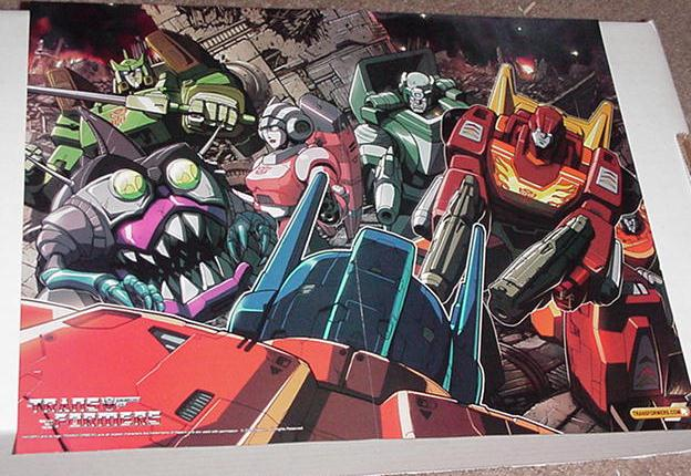Hot Rod + New Autobots Poster Pat Lee Transformers
