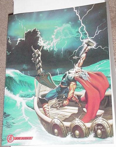 Mighty Thor in Asgard Poster by Joe Jusko