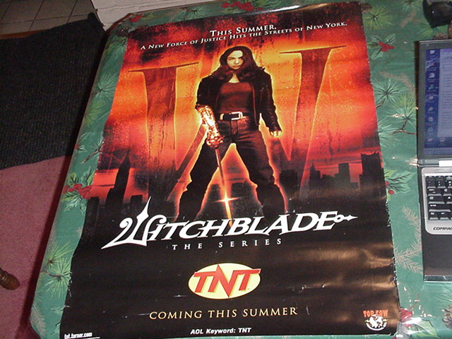 Witchblade TV Poster Corners Dinged