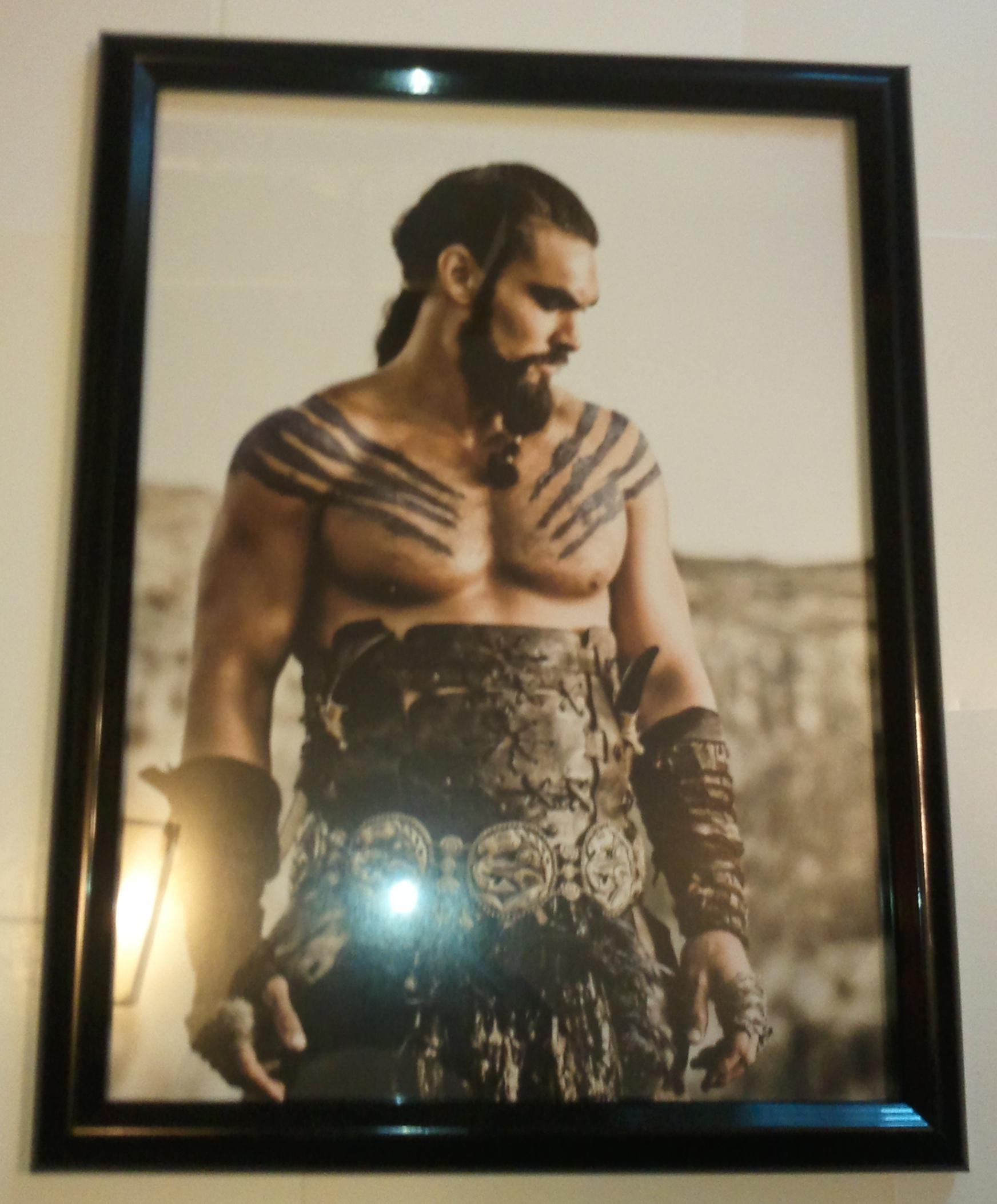 Game Of Thrones Poster # 2 FRAMED Khal Drogo Jason Momoa