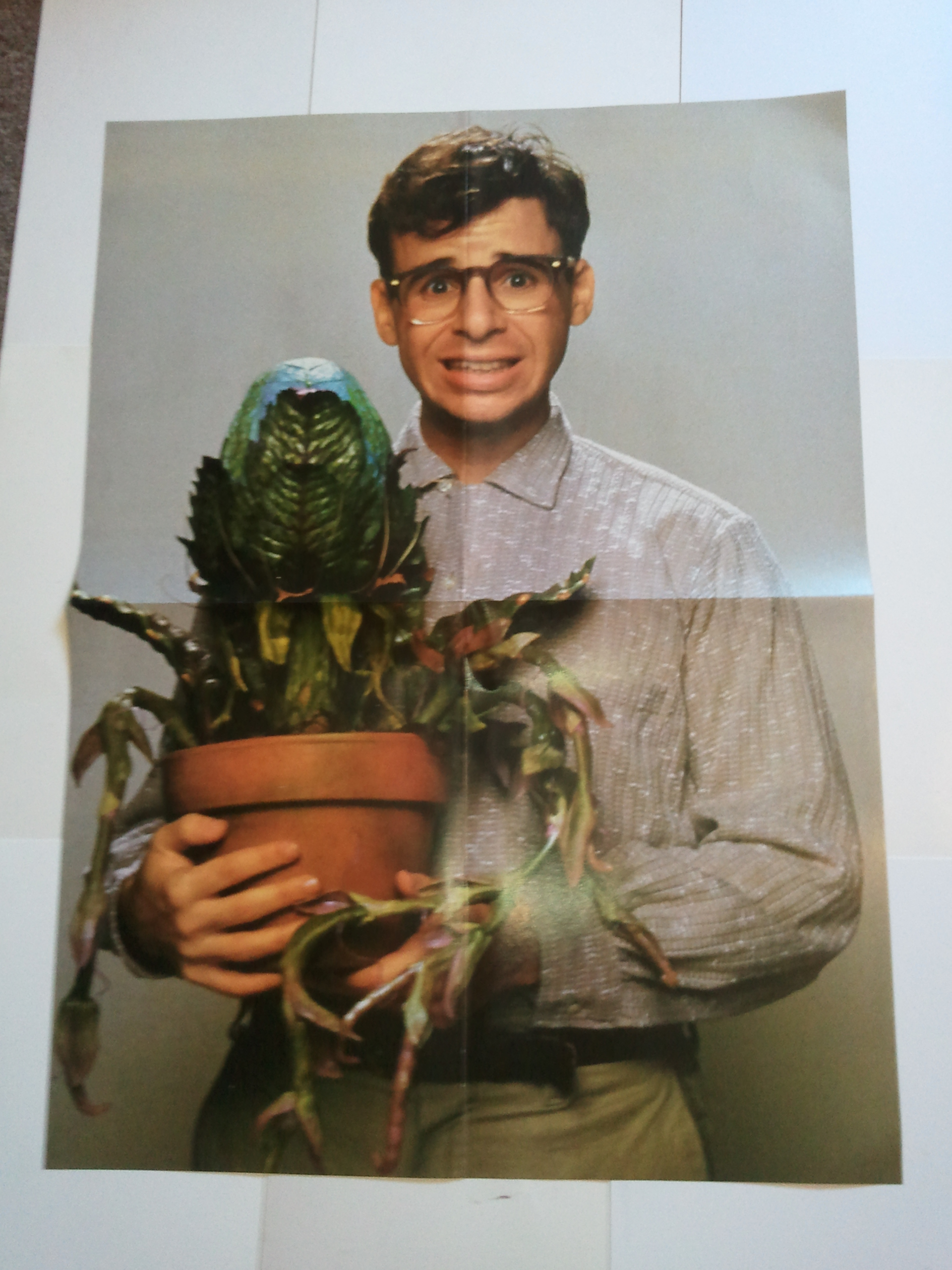 Little Shop Of Horrors Movie Poster Seymour Audrey Ii Rick Moranis Ebay
