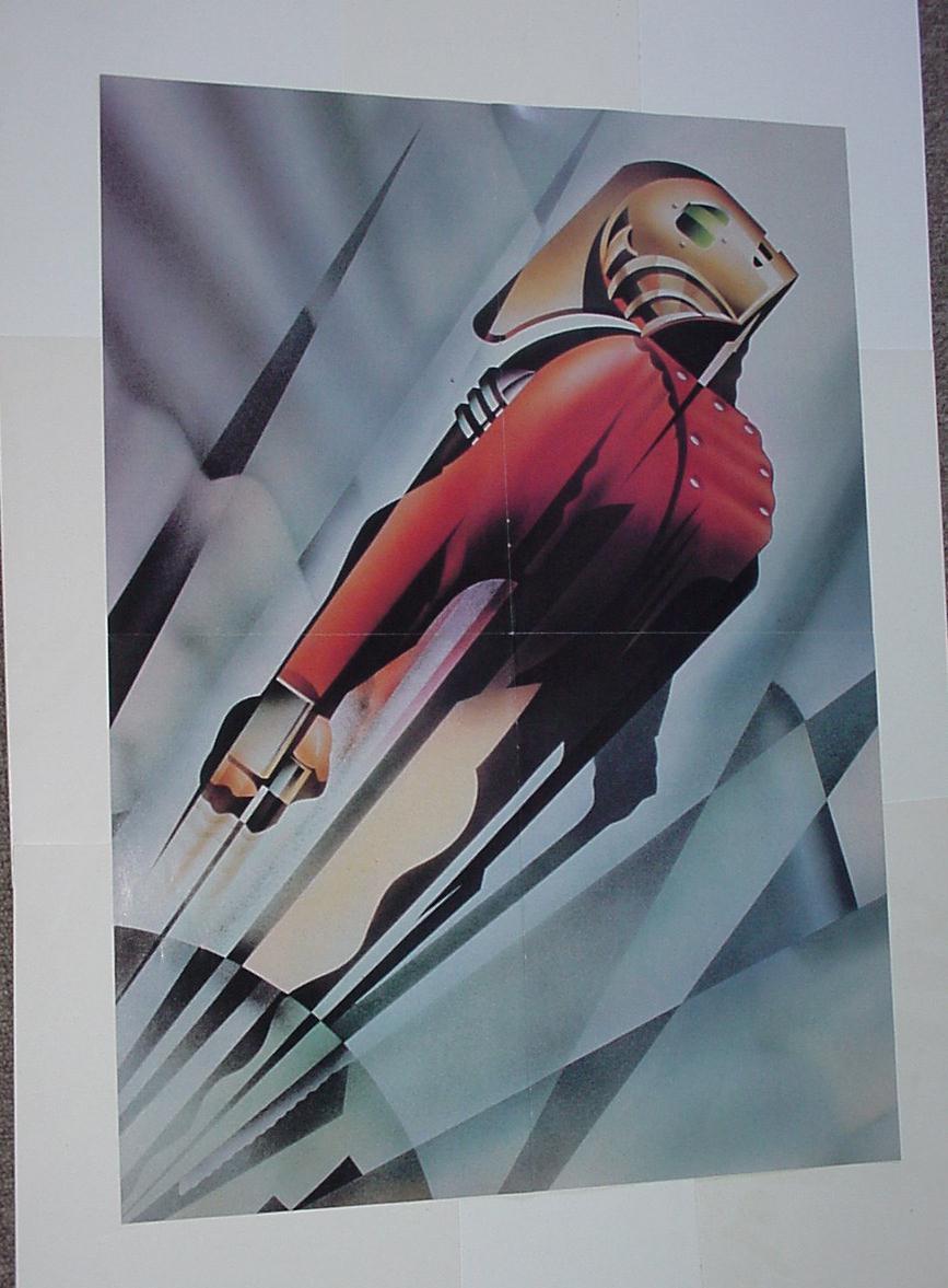 Details about Rocketeer Poster  3 Art Deco Design Movie Poster Disney