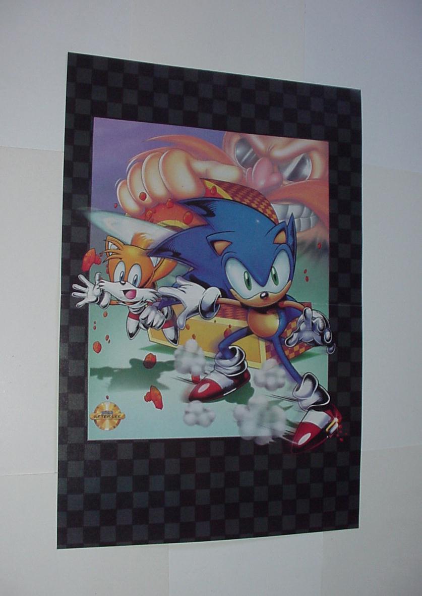 Sonic The Hedgehog Cartel 11 Sonic Y Tails Vs Dr Robotnik Pelicula 2019 Ebay