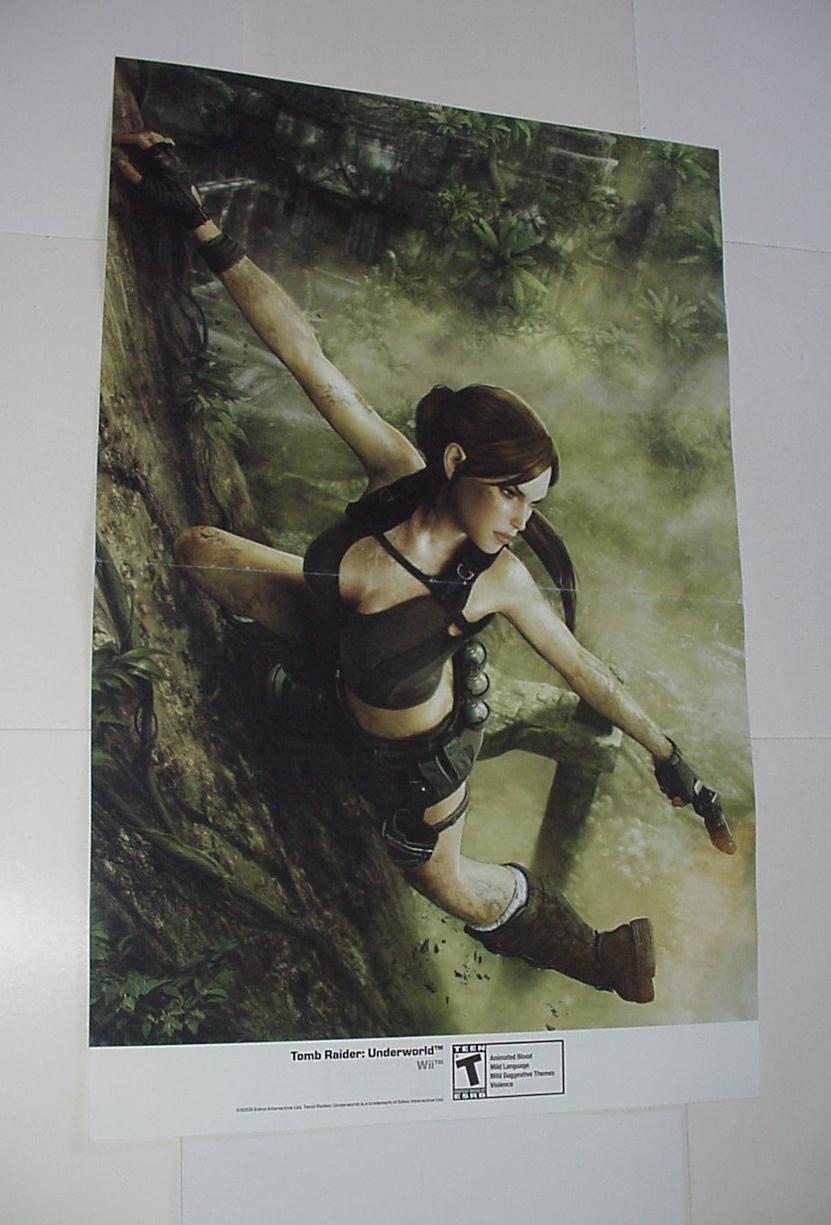 Tomb Raider Underworld Poster 2 Nintendo Wii Eidos Lara Croft